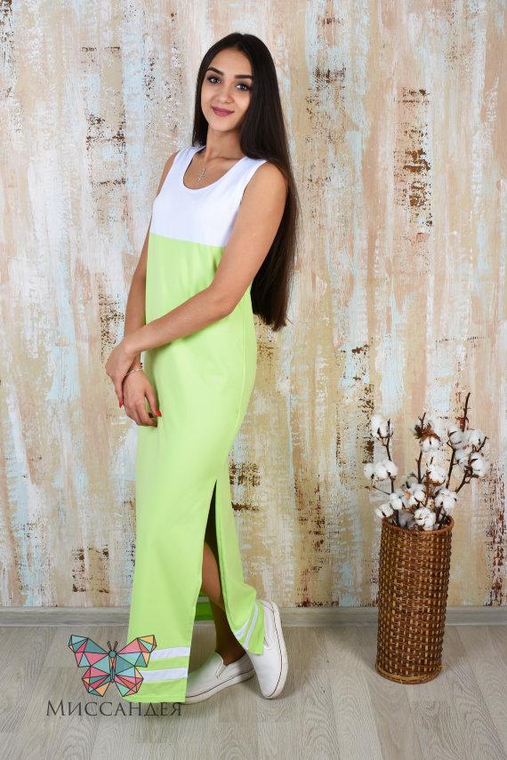 Платье П 50 (салатовый) купить по цене 617 руб. в интернет-магазине Миссандея